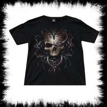 T Shirt Mechanic Skull