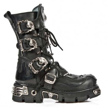 M.1007-C1 New Rock Stiefel Metallic