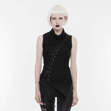 Black Harpy Gothic Sleeveless Top - Punk Rave
