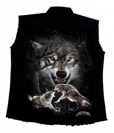 Workershirt Fighting Wolves