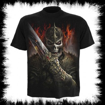 Fantasy Metal T Shirt Dragon Warrior