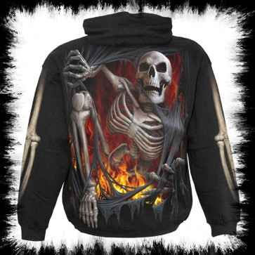 Goth Metal Hoody Re Ripped