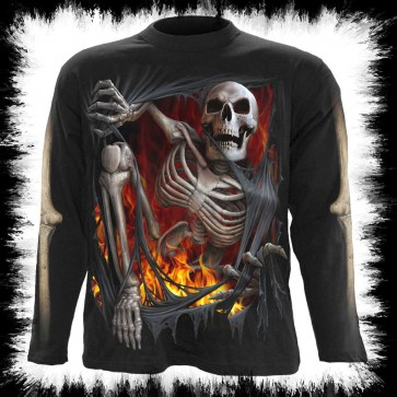 Goth Metal Longsleeve Re Ripped