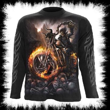 Gothic Metal Longsleeve Wheels Of Fire