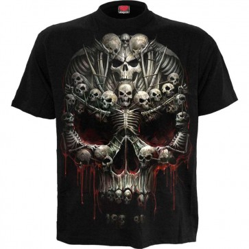 Gothic T Shirt Bone Cross
