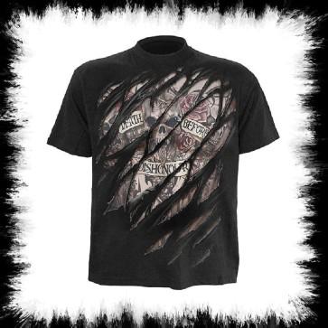 Tattoo T Shirt Death Before Dishonour