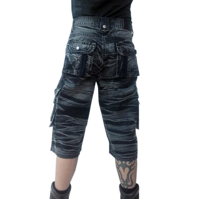 3 4 shorts grau schwarz gebatikt m nner hosen kurz. Black Bedroom Furniture Sets. Home Design Ideas