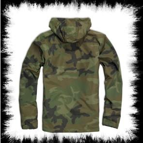 Brandit Windbreaker Jacke In Grünem Woodland Camoflage