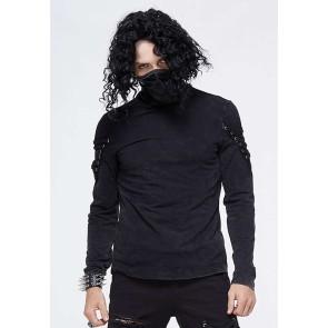 Devil Fashion - Gothic Longsleeve mit Atemmaske