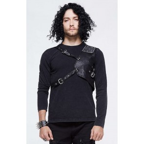 Devil Fashion - Gothic Longsleeve mit Brust Harness.