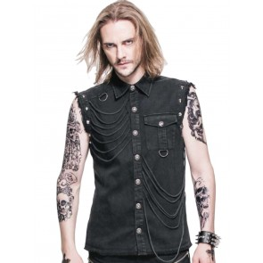 Gothic Workershirt Fetzen Look