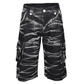 batik shorts grau schwarz