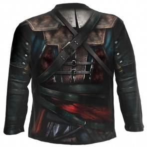 ASSASSINS CREED IV BLACK FLAG - ALLOVER LICENSED LONGSLEEVE T-SHIRT SCHWARZ