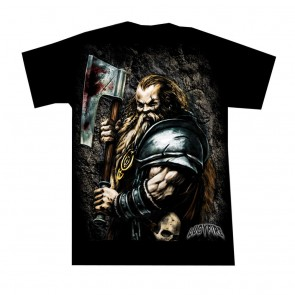 fantasy t shirt dwarf warrior