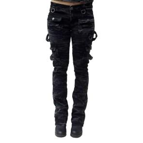 Frauen Bootscut Jeans Snowwash Batik