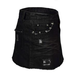 Jeans Mini Rock Stonewash Schwarz