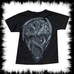 Kinder T Shirt Drachen Kreuz