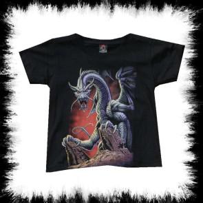 Kinder T Shirt Felsen Drache