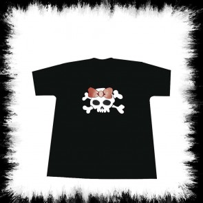 Kinder T Shirt Girly Skull