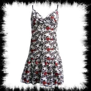 Kleid Rose & Skull Weiss