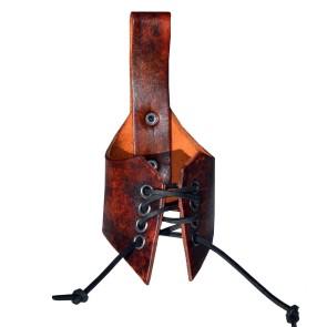 Leder Trinkhornhalter dunkel Braun