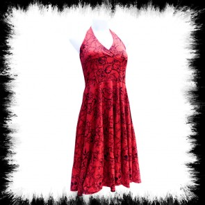 Neckholder Pinup Kleid In Rot