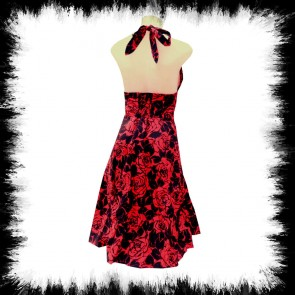 Neckolder Kleid Black Rose