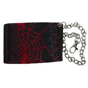 Portemonnaie Mit Kette Rotes Spinnennetz