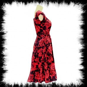 Puffärmelkleid Black Rose