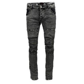 Punkige Snowwash Slimfit Jeans
