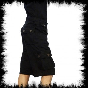Schwarze Army Shorts