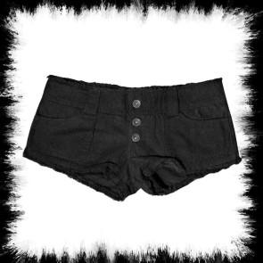 Schwarze Jeans Hotpants