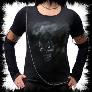 T Shirt Mit Armstulpen Fog Skull