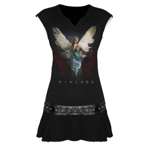 VIKINGS - ANGEL - VIKINGS NIETEN KLEID SCHWARZ