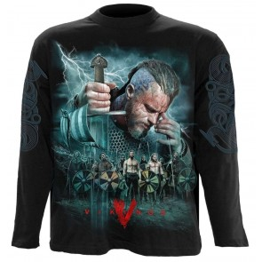 VIKINGS - BATTLE - VIKINGS LONGSLEEVE SHIRT SCHWARZ