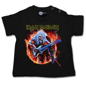 Baby T Shirt, Iron Maiden Fear Live Flames