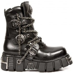 M.1011-S1 New Rock Stiefel Metallic