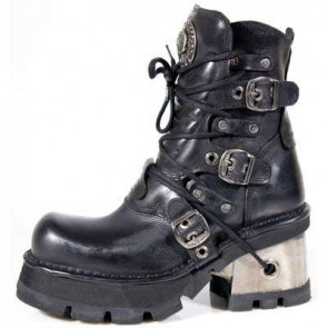 M.1014-C1 New Rock Stiefel Metallic