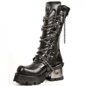 M.1017-C1 New Rock Hoher Stiefel Metallic