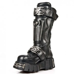 M.1025-S1 New Rock Stiefel Metallic