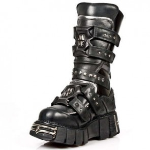 M.1026-C1 New Rock Stiefel Metallic