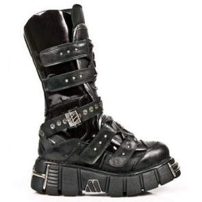 M.1026-S1 New Rock Stiefel Metallic