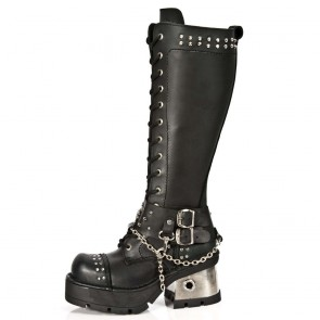 M.1027-C1 New Rock Hoher Stiefel Metallic