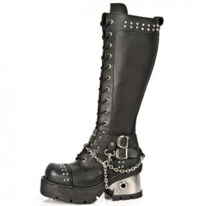 M.1027-S1 New Rock Hoher Stiefel Metallic