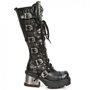 M.1030-S1 New Rock Hoher Stiefel Metallic