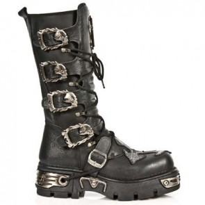 M.1034-C1 New Rock Hoher Stiefel Metallic