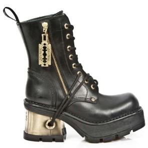 M.1045-C2 New Rock Stiefel Metallic