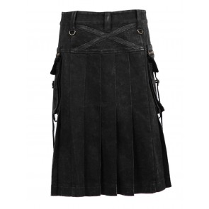 Berserker Men Kilt Black - Punk Rave