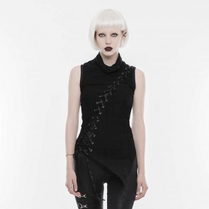 Black Harpy Gothic Sleeveless Top - Punk Rave