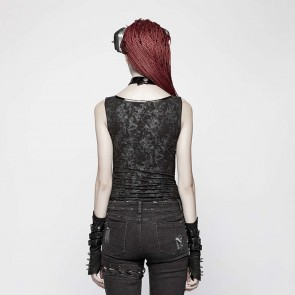 Gothic Black Smoke Top - Punk Rave